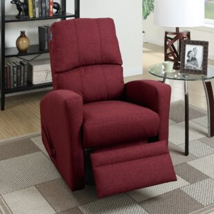 Flora Upholstered Manual Swivel Recliner