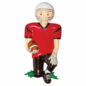 Sports Football Player Shaped Ornament