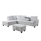 Colo 98 Sectional With Ottoman by Red Barrel Studio®