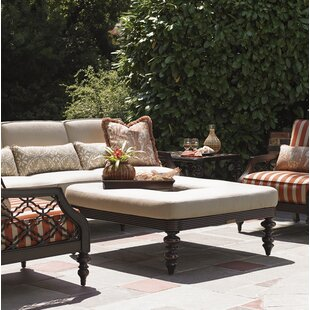Sands Cocktail Outdoor Ottoman with Cushion by Tommy Bahama Outdoor