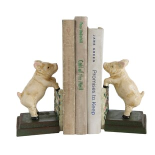 Strikingly Idea Bird Bookends. Cast Iron Reproduction Pig Bookends  Set of 2 You ll Love Wayfair
