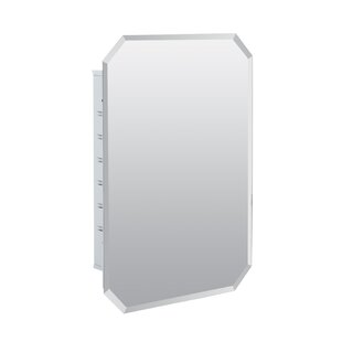 Westling 16 x 24 Recessed Frameless Medicine Cabinet with 2 Adjustable Shelves