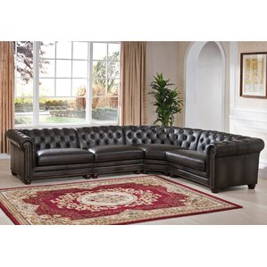 Anaheim Leather Modular Sectional by Amax