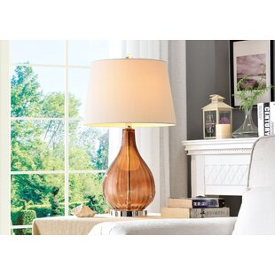 Reviews Lathrop 27'' Table Lamp By Bay Isle Home
