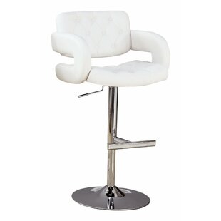 Woolery Adjustable Height Swivel Bar Stool by Orren Ellis