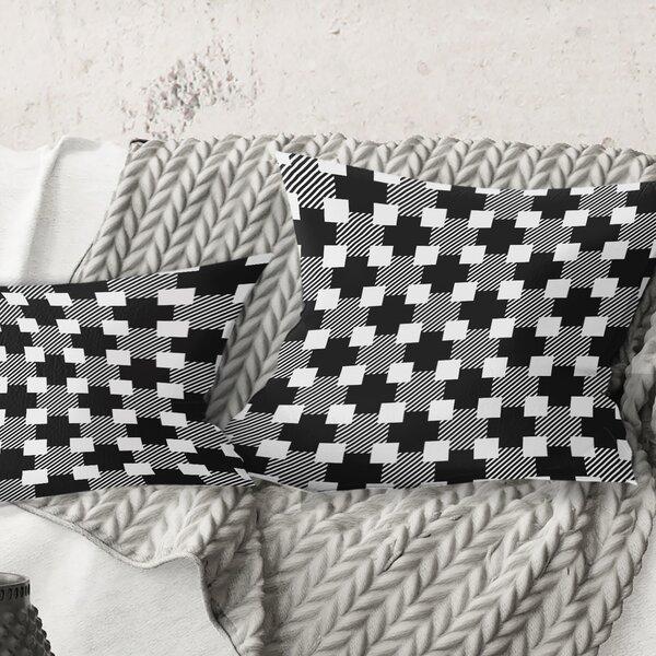 East Urban Home Monochrome Pattern Ii Pillow Wayfair