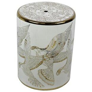 World Menagerie Lazo Ceramic Bird Design Garden Stool