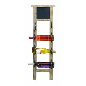 Chalkboard 4 Bottle Wall Mounted Wine Rack by Woodland Imports