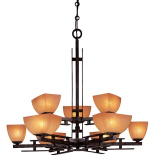 Minka Lavery Lineage 9-Light Shaded Chandelier