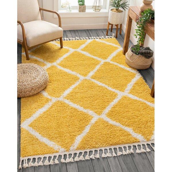 Well Woven Cabana Geometric Yellow White Area Rug Reviews Wayfair