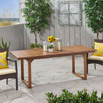 Naveena Extendable Wooden Dining Table by Latitude Run Read Reviews