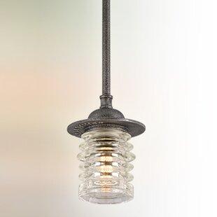 Laquisha 1-Light Bell Pendant by 17 Stories