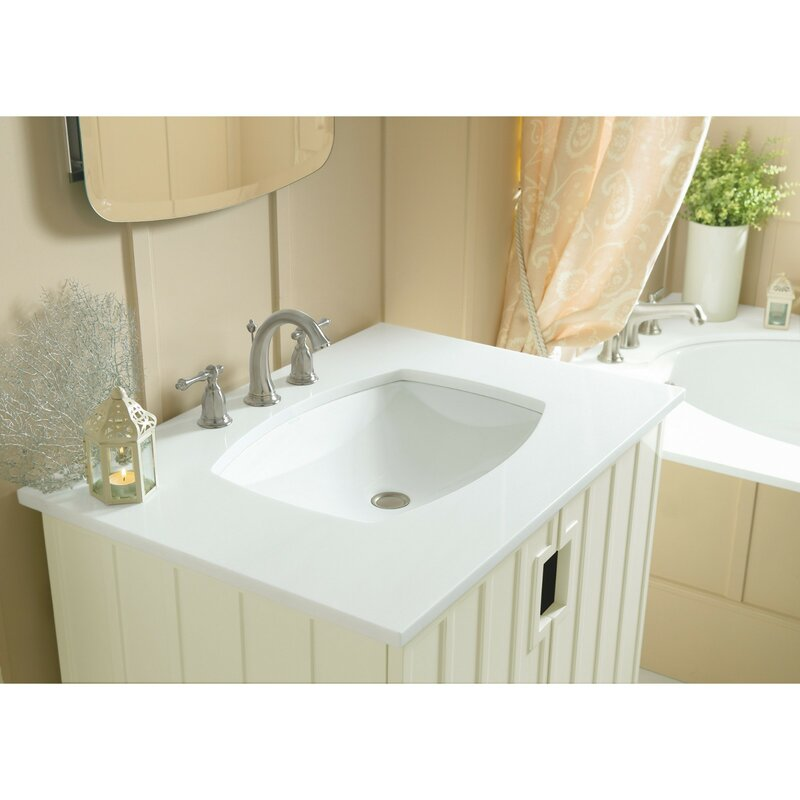 K 2382 0 95 96 Kohler Kelston 174 Ceramic Rectangular Undermount Bathroom Sink With Overflow