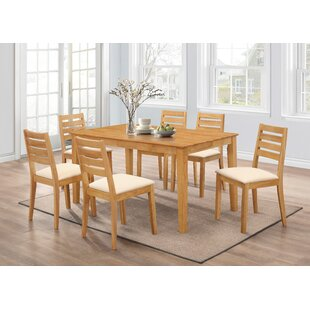 Damm Dining Set With 6 Chairs By Natur Pur