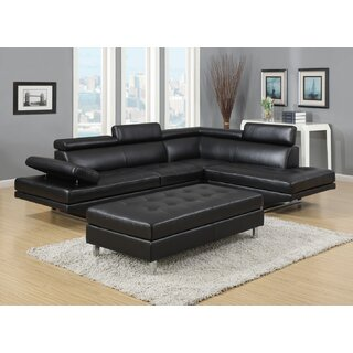 Alemany Right Hand Facing Sectional with Ottoman by Orren Ellis SKU:AD302487 Description
