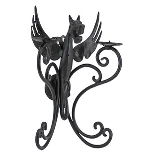Castle Dragon Iron Sconce