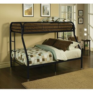 Kelm Metal Tube Twin Over Full Bunk Bed with Built-In Ladders and Full-Length Guard Rails