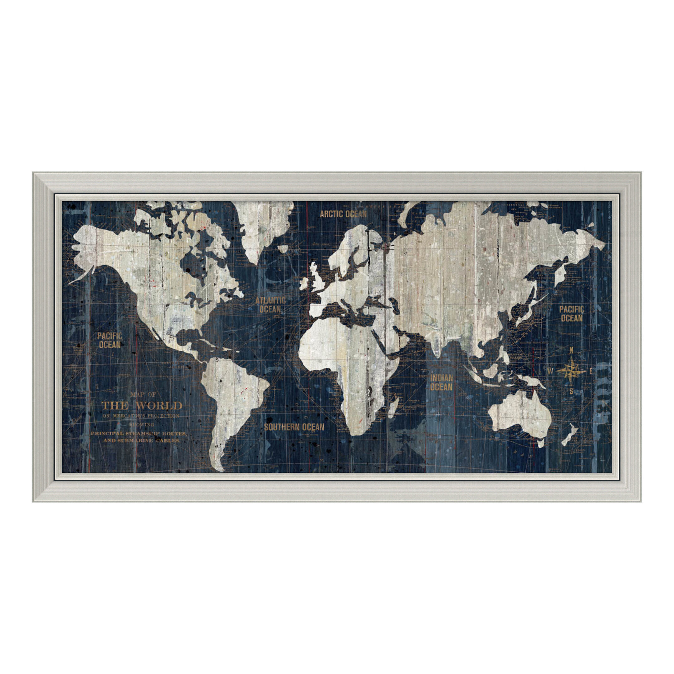 Old world map framed graphic art reviews joss main gumiabroncs Choice Image