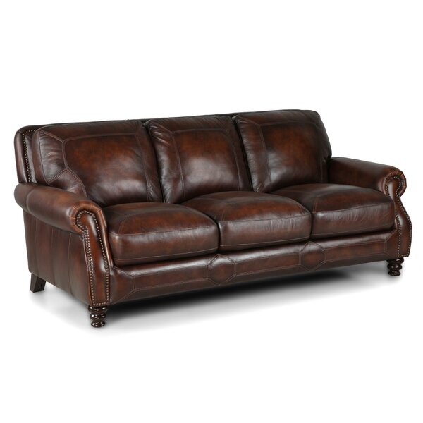 Reviews For Leather Sofas: Darby Home Co Goldhorn Leather Sofa & Reviews