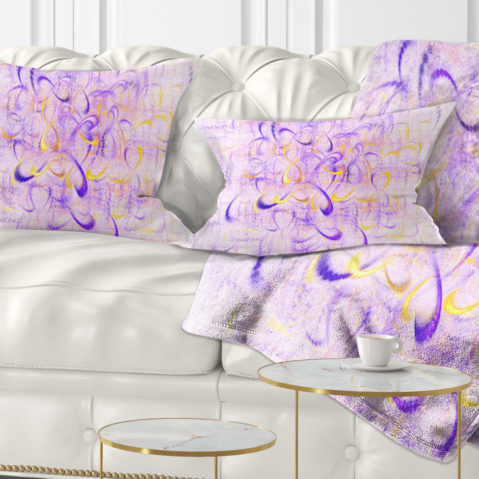 East Urban Home Abstract Light Watercolor Fractal Art Lumbar Pillow Wayfair