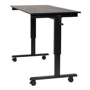 Luxor Crank Standing Desk in Black Oak
