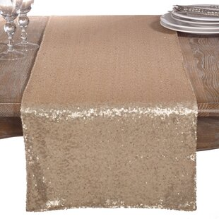Nahush Shimmering Sequin Evening Dinner Party Wedding Event Table Runner