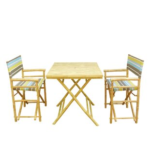 3 Piece Bamboo Bistro Set by ZEW Inc