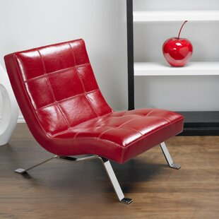 Red Leather Chairs Youu0027ll Love | Wayfair