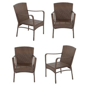 Rushmore Garden Patio Stacking Patio Dining Chair (Set of 4)