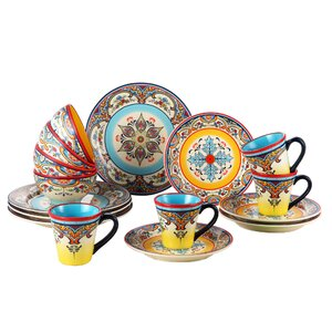 Zanzibar 16 Piece Dinnerware Set, Service for 4
