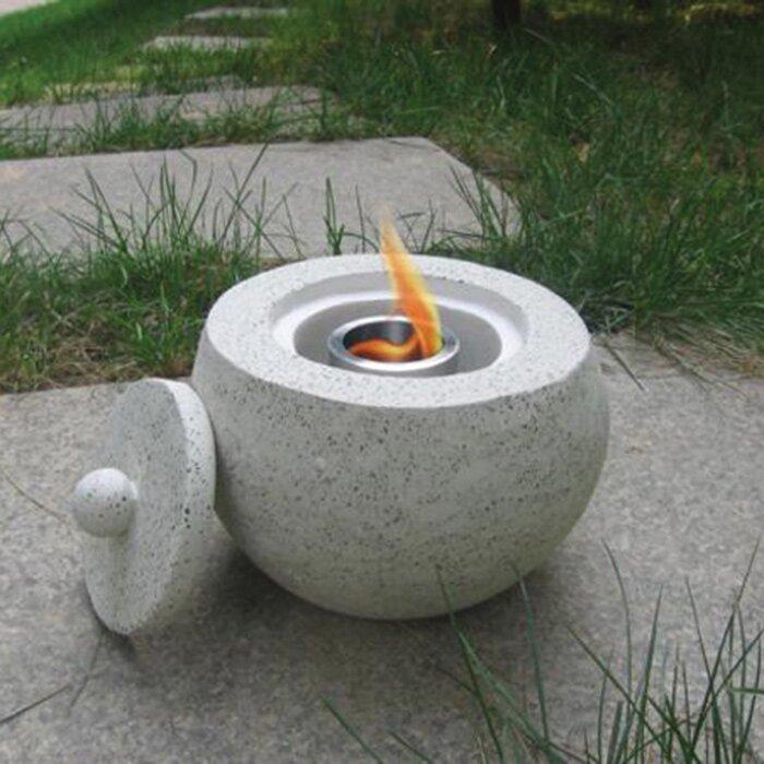 Terrazo Gel Fuel Tabletop Fireplace