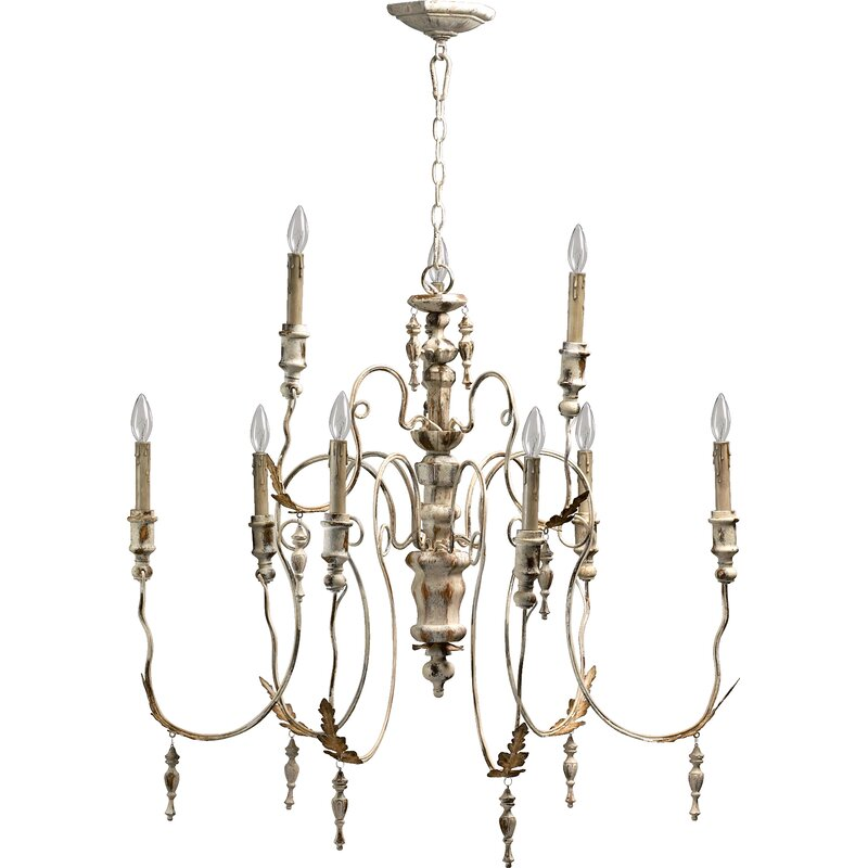 Paladino 9-Light Chandelier. #chandeliers #frenchcountry #romantic #lighting #homedecor