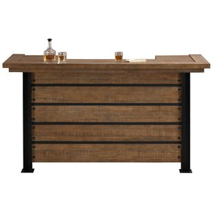Spring Grove Reclaimed Wood Home Bar With Wine Storage