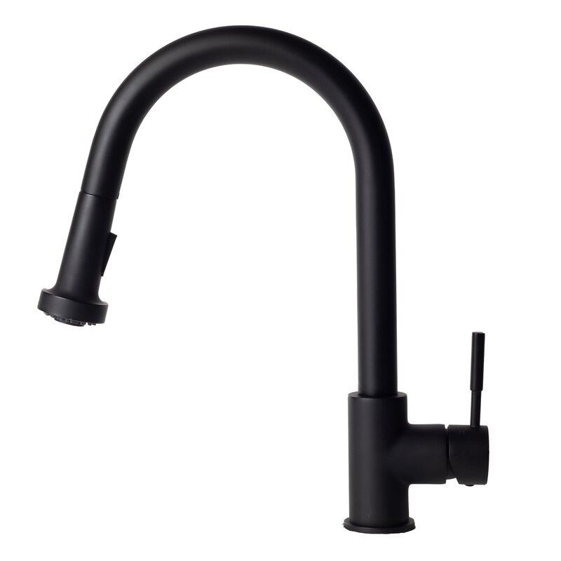 Zline Kitchen And Bath Monet Pull Out Single Handle Kitchen Faucet Reviews Wayfair