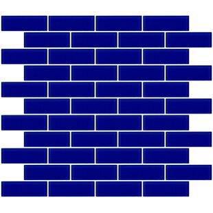 1 X 3 Gl Subway Tile In Glossy Cobalt Blue