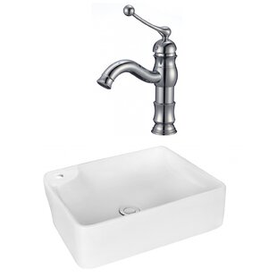 Price comparison Ceramic Rectangular Vessel Bathroom Sink with Faucet By Royal Purple Bath Kitchen