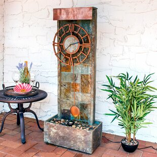Loon Peak Wagner Slate Indoor/Outdoor Water Fountain with LED Spotlight