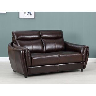 Licata Top Grain Leather Loveseat