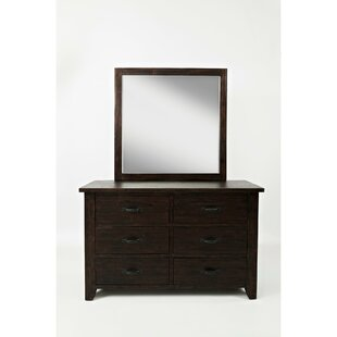 Woodall 6 Drawer Double Dresser with Mirror