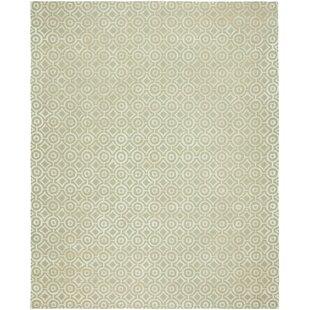 Avillion Hand-Tufted Wool Ivory Area Rug byHouse of Hampton