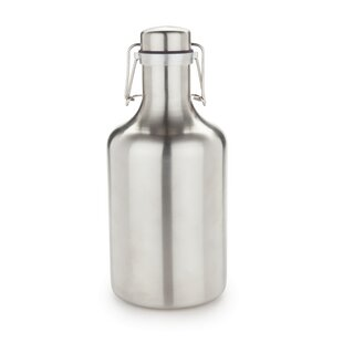 Grizzly Flip Top Stainless Steel 64 Oz. Growler