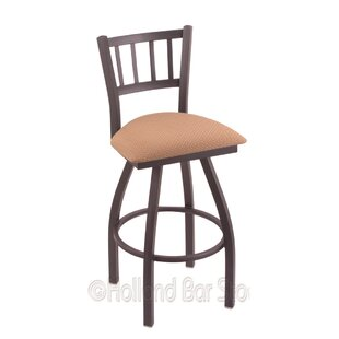 Nicolai 36 Swivel Bar Stool Red Barrel Studio