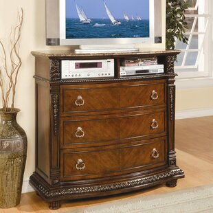 Astoria Grand Amalfi 3 Drawer Media Chest