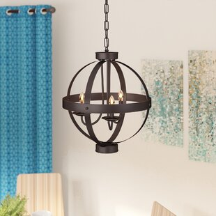 Laurel Foundry Modern Farmhouse La Sarre 3-Light Globe Chandelier