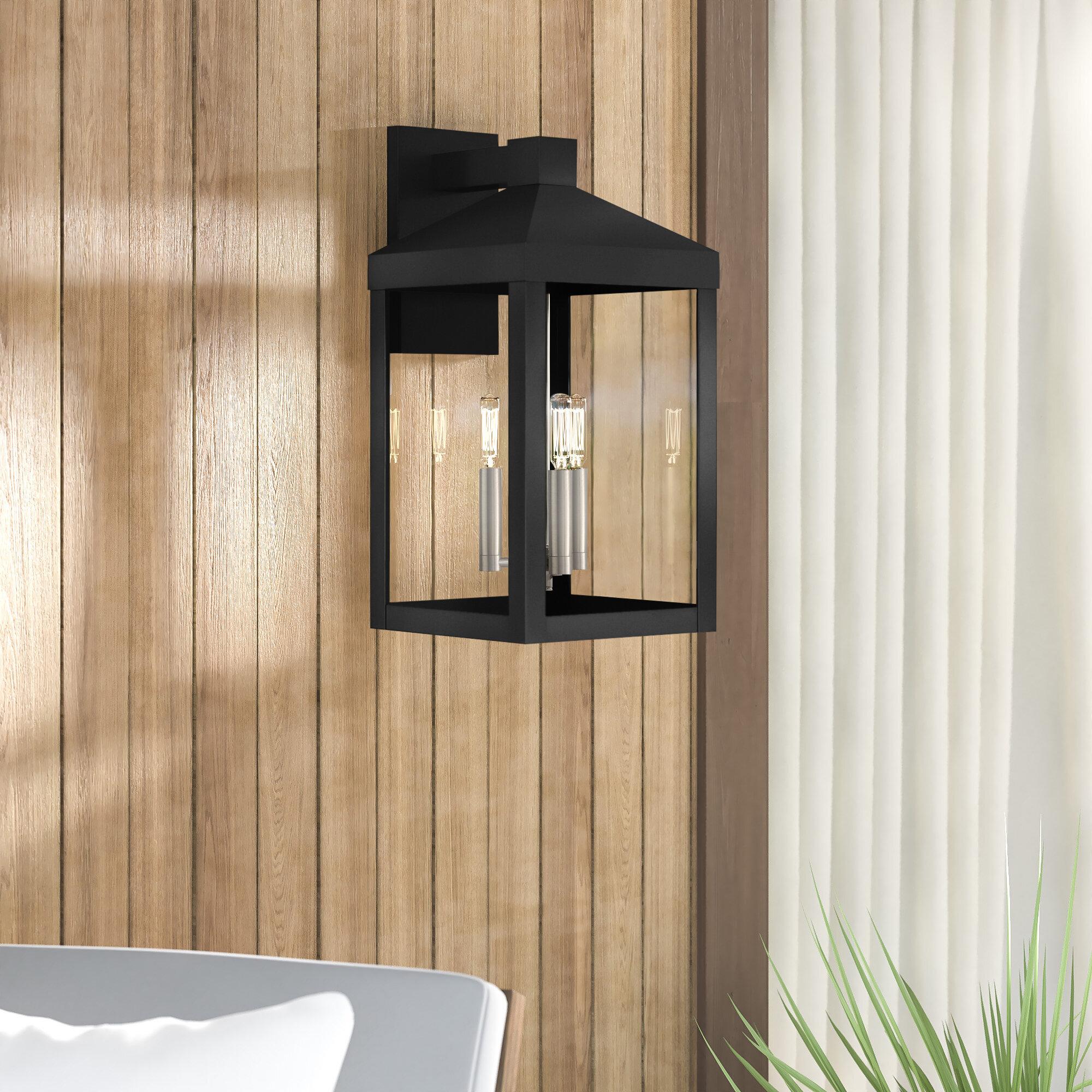 Mercury Row Tucana 3 Light Outdoor Wall Lantern Reviews Wayfair