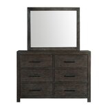 Mccorkle 6 Drawer Double Dresser with Mirror by Gracie Oaks