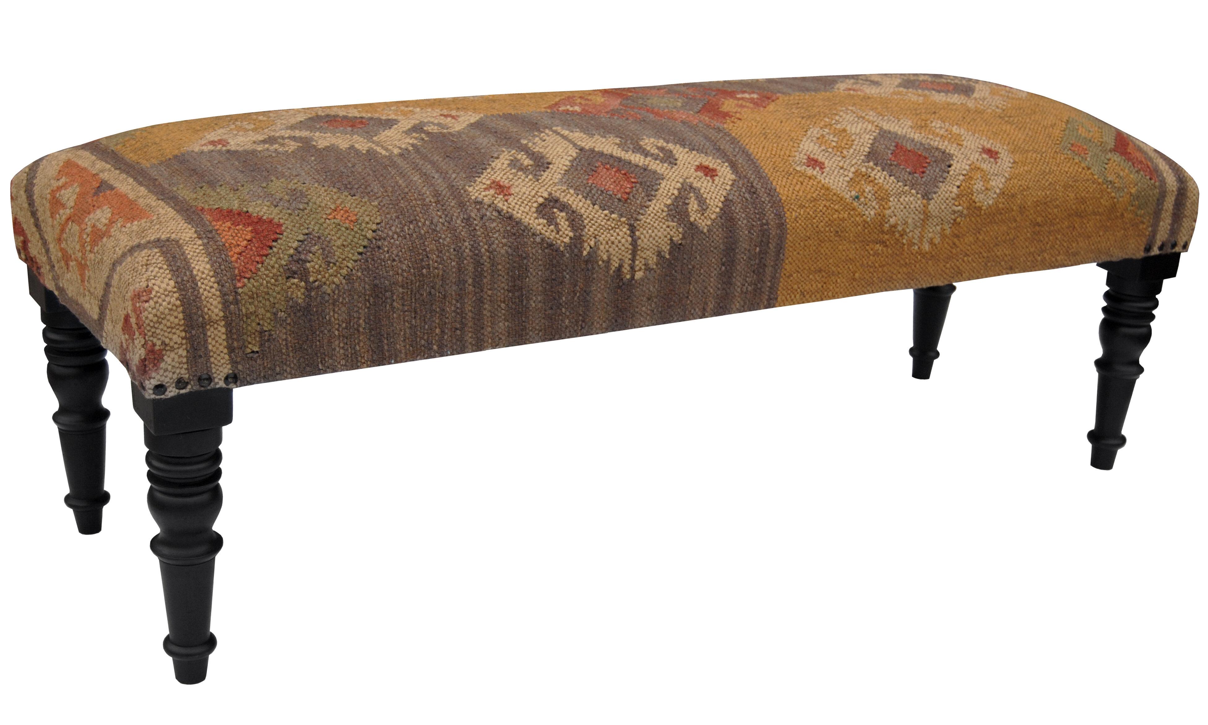 Wondrous Bryleigh Handmade Indo Kilim Wooden Bench Frankydiablos Diy Chair Ideas Frankydiabloscom