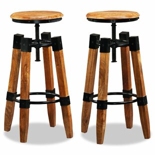 Romford Height Adjustable Bar Stool (Set Of 2) By Williston Forge