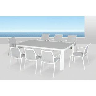 Houston Glass Dining Table by Orren Ellis