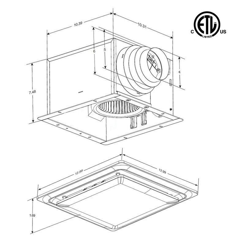 Aero Pure Ceiling Mount 80 Cfm Energy Star Bathroom Fan